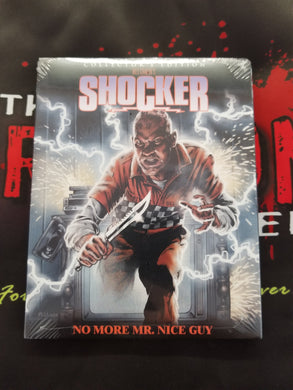 Shocker (Collector's Edition BD) w/ slipcover - The Crimson Screen Collectibles, horror movie collectibles, horror movie toys, horror movies, blu-rays, dvds, vhs, NECA Toys, Mezco Toyz, Pop!, Shout Factory, Scream Factory, Arrow Video, Severin Films, Horror t-shirts
