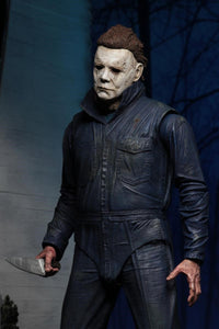 "Halloween (2018) - 7"" Scale Action Figure - Ultimate Michael Myers - The Crimson Screen Collectibles, horror movie collectibles, horror movie toys, horror movies, blu-rays, dvds, vhs, NECA Toys, Mezco Toyz, Pop!, Shout Factory, Scream Factory, Arrow Video, Severin Films, Horror t-shirts"