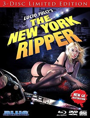 THE NEW YORK RIPPER 3-DISC LIMITED EDITION (4K/BLU-RAY) - The Crimson Screen Collectibles, horror movie collectibles, horror movie toys, horror movies, blu-rays, dvds, vhs, NECA Toys, Mezco Toyz, Pop!, Shout Factory, Scream Factory, Arrow Video, Severin Films, Horror t-shirts