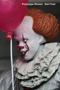 "IT - 7"" Scale Action Figure - Ultimate Pennywise (2017 Film) - The Crimson Screen Collectibles, horror movie collectibles, horror movie toys, horror movies, blu-rays, dvds, vhs, NECA Toys, Mezco Toyz, Pop!, Shout Factory, Scream Factory, Arrow Video, Severin Films, Horror t-shirts"