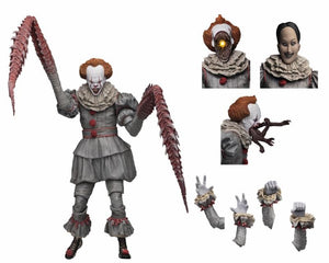 "IT - 7"" Scale Action Figure - Ultimate ""Dancing Clown"" Pennywise - The Crimson Screen Collectibles, horror movie collectibles, horror movie toys, horror movies, blu-rays, dvds, vhs, NECA Toys, Mezco Toyz, Pop!, Shout Factory, Scream Factory, Arrow Video, Severin Films, Horror t-shirts"