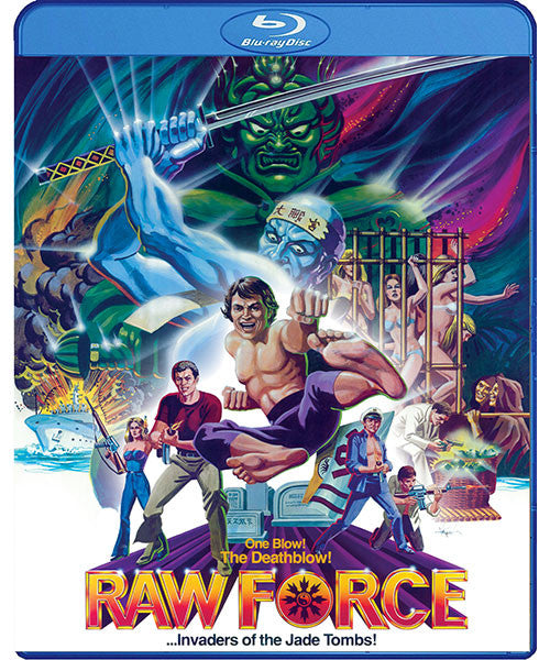 Raw Force (Blu-Ray) - The Crimson Screen Collectibles, horror movie collectibles, horror movie toys, horror movies, blu-rays, dvds, vhs, NECA Toys, Mezco Toyz, Pop!, Shout Factory, Scream Factory, Arrow Video, Severin Films, Horror t-shirts