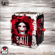 Burst-A-Box  Saw: Billy (PRE-ORDER) - The Crimson Screen Collectibles, horror movie collectibles, horror movie toys, horror movies, blu-rays, dvds, vhs, NECA Toys, Mezco Toyz, Pop!, Shout Factory, Scream Factory, Arrow Video, Severin Films, Horror t-shirts
