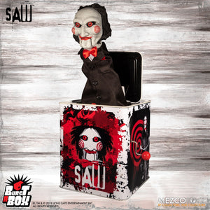 Burst-A-Box  Saw: Billy (IN STOCK) - The Crimson Screen Collectibles, horror movie collectibles, horror movie toys, horror movies, blu-rays, dvds, vhs, NECA Toys, Mezco Toyz, Pop!, Shout Factory, Scream Factory, Arrow Video, Severin Films, Horror t-shirts