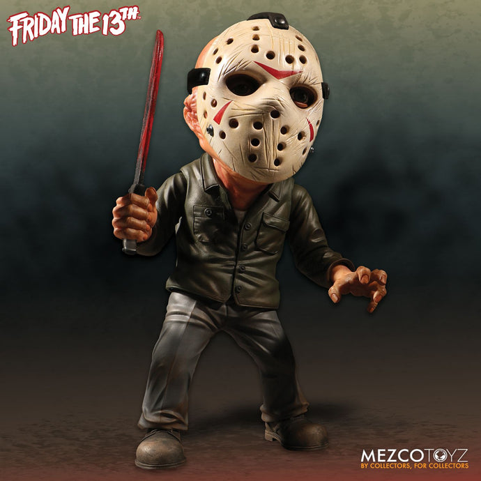 Friday the 13th Deluxe Stylized Jason from MEZCO IN STOCK NOW.