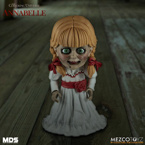 Mezco Designer Series  Annabelle  (PRE-ORDER) - The Crimson Screen Collectibles, horror movie collectibles, horror movie toys, horror movies, blu-rays, dvds, vhs, NECA Toys, Mezco Toyz, Pop!, Shout Factory, Scream Factory, Arrow Video, Severin Films, Horror t-shirts