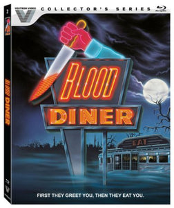 Blood Diner (Collector's Edition Blu-Ray) - The Crimson Screen Collectibles, horror movie collectibles, horror movie toys, horror movies, blu-rays, dvds, vhs, NECA Toys, Mezco Toyz, Pop!, Shout Factory, Scream Factory, Arrow Video, Severin Films, Horror t-shirts