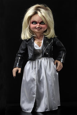 Bride of Chucky - 1:1 Replica - Life-Size Tiffany - The Crimson Screen Collectibles, horror movie collectibles, horror movie toys, horror movies, blu-rays, dvds, vhs, NECA Toys, Mezco Toyz, Pop!, Shout Factory, Scream Factory, Arrow Video, Severin Films, Horror t-shirts