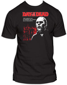 Day of the Dead (Black) - The Crimson Screen Collectibles, horror movie collectibles, horror movie toys, horror movies, blu-rays, dvds, vhs, NECA Toys, Mezco Toyz, Pop!, Shout Factory, Scream Factory, Arrow Video, Severin Films, Horror t-shirts