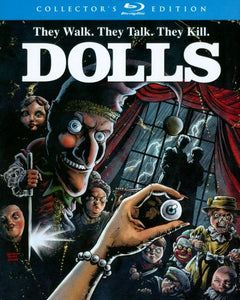 Dolls (Collector's Edition) no slipcover - The Crimson Screen Collectibles, horror movie collectibles, horror movie toys, horror movies, blu-rays, dvds, vhs, NECA Toys, Mezco Toyz, Pop!, Shout Factory, Scream Factory, Arrow Video, Severin Films, Horror t-shirts