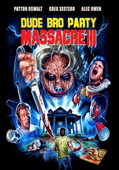 DUDE BRO PARTY MASSACRE III (DVD) - The Crimson Screen Collectibles, horror movie collectibles, horror movie toys, horror movies, blu-rays, dvds, vhs, NECA Toys, Mezco Toyz, Pop!, Shout Factory, Scream Factory, Arrow Video, Severin Films, Horror t-shirts