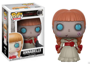 Pop! Horror Vinyl Figure: Annabelle (The Conjouring) - The Crimson Screen Collectibles, horror movie collectibles, horror movie toys, horror movies, blu-rays, dvds, vhs, NECA Toys, Mezco Toyz, Pop!, Shout Factory, Scream Factory, Arrow Video, Severin Films, Horror t-shirts