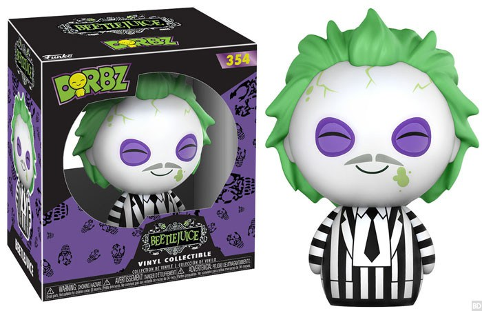 Pop! Dorbiz Vinyl Figure: Beetlejuice - The Crimson Screen Collectibles, horror movie collectibles, horror movie toys, horror movies, blu-rays, dvds, vhs, NECA Toys, Mezco Toyz, Pop!, Shout Factory, Scream Factory, Arrow Video, Severin Films, Horror t-shirts