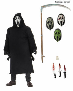 "Ghostface - 7"" Scale Action Figure – Ultimate Ghostface (PRE-ORDER) - The Crimson Screen Collectibles, horror movie collectibles, horror movie toys, horror movies, blu-rays, dvds, vhs, NECA Toys, Mezco Toyz, Pop!, Shout Factory, Scream Factory, Arrow Video, Severin Films, Horror t-shirts"