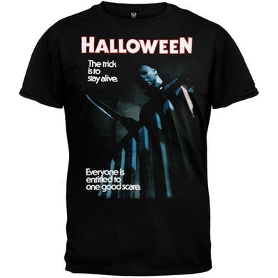 Halloween T-Shirt (Everyone's Entitled To One Good Scare) - The Crimson Screen Collectibles, horror movie collectibles, horror movie toys, horror movies, blu-rays, dvds, vhs, NECA Toys, Mezco Toyz, Pop!, Shout Factory, Scream Factory, Arrow Video, Severin Films, Horror t-shirts