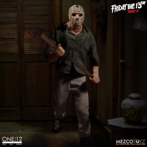Jason Voorhees from Friday The 13th Part 3: One:12 Collective (IN STOCK) - The Crimson Screen Collectibles, horror movie collectibles, horror movie toys, horror movies, blu-rays, dvds, vhs, NECA Toys, Mezco Toyz, Pop!, Shout Factory, Scream Factory, Arrow Video, Severin Films, Horror t-shirts