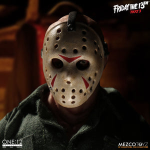 Jason Voorhees from Friday The 13th Part 3: One:12 Collective - The Crimson Screen Collectibles, horror movie collectibles, horror movie toys, horror movies, blu-rays, dvds, vhs, NECA Toys, Mezco Toyz, Pop!, Shout Factory, Scream Factory, Arrow Video, Severin Films, Horror t-shirts