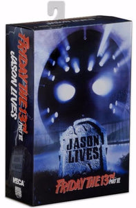 "Friday the 13th – 7"" Scale Action Figure – Ultimate Part 6 Jason - The Crimson Screen Collectibles, horror movie collectibles, horror movie toys, horror movies, blu-rays, dvds, vhs, NECA Toys, Mezco Toyz, Pop!, Shout Factory, Scream Factory, Arrow Video, Severin Films, Horror t-shirts"