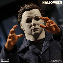 Michael Myers: Mezco One: 12 Collective Figure - The Crimson Screen Collectibles, horror movie collectibles, horror movie toys, horror movies, blu-rays, dvds, vhs, NECA Toys, Mezco Toyz, Pop!, Shout Factory, Scream Factory, Arrow Video, Severin Films, Horror t-shirts
