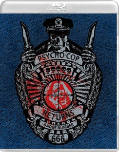 Psycho Cop Returns (Blu-Ray/Dvd Combo) - The Crimson Screen Collectibles, horror movie collectibles, horror movie toys, horror movies, blu-rays, dvds, vhs, NECA Toys, Mezco Toyz, Pop!, Shout Factory, Scream Factory, Arrow Video, Severin Films, Horror t-shirts