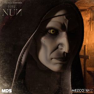 Mezco Designer Series  The Nun (PRE-ORDER) - The Crimson Screen Collectibles, horror movie collectibles, horror movie toys, horror movies, blu-rays, dvds, vhs, NECA Toys, Mezco Toyz, Pop!, Shout Factory, Scream Factory, Arrow Video, Severin Films, Horror t-shirts
