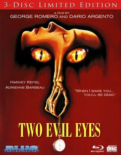 TWO EVIL EYES LIMITED EDITION (3 BLU-RAY SET) - The Crimson Screen Collectibles, horror movie collectibles, horror movie toys, horror movies, blu-rays, dvds, vhs, NECA Toys, Mezco Toyz, Pop!, Shout Factory, Scream Factory, Arrow Video, Severin Films, Horror t-shirts