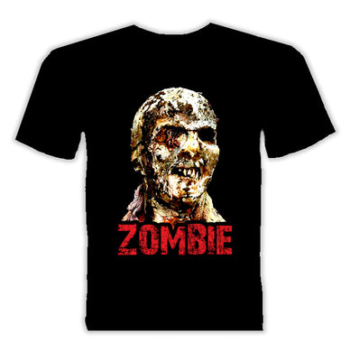 Zombie (T-Shirt) - The Crimson Screen Collectibles, horror movie collectibles, horror movie toys, horror movies, blu-rays, dvds, vhs, NECA Toys, Mezco Toyz, Pop!, Shout Factory, Scream Factory, Arrow Video, Severin Films, Horror t-shirts