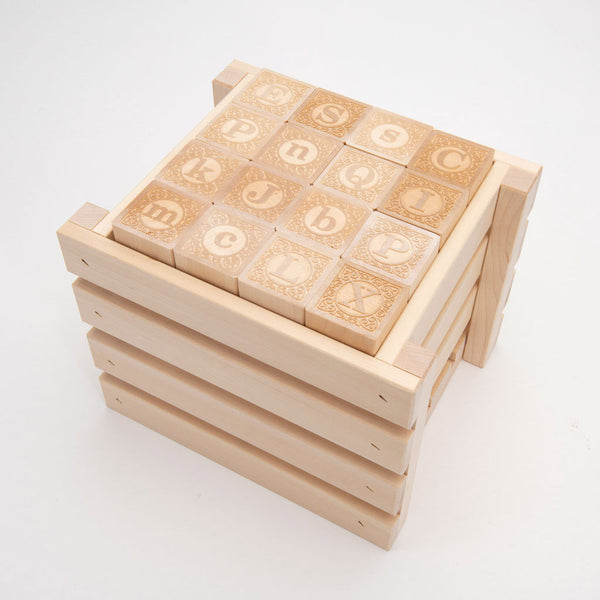 Uncle Goose Alphablank ABC Blocks with Crate