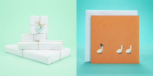 Uncle Goose Gift Wrap and Card