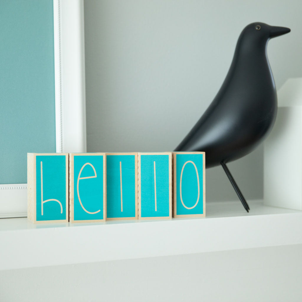 Uncle Goose Specialty Letter Blocks - Ocean