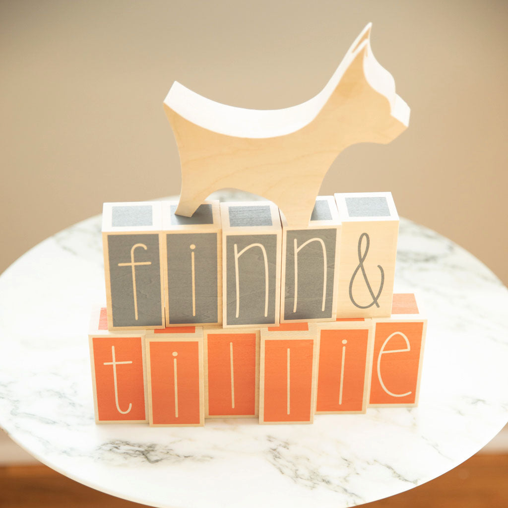 Uncle Goose Specialty Letter Blocks - Gray