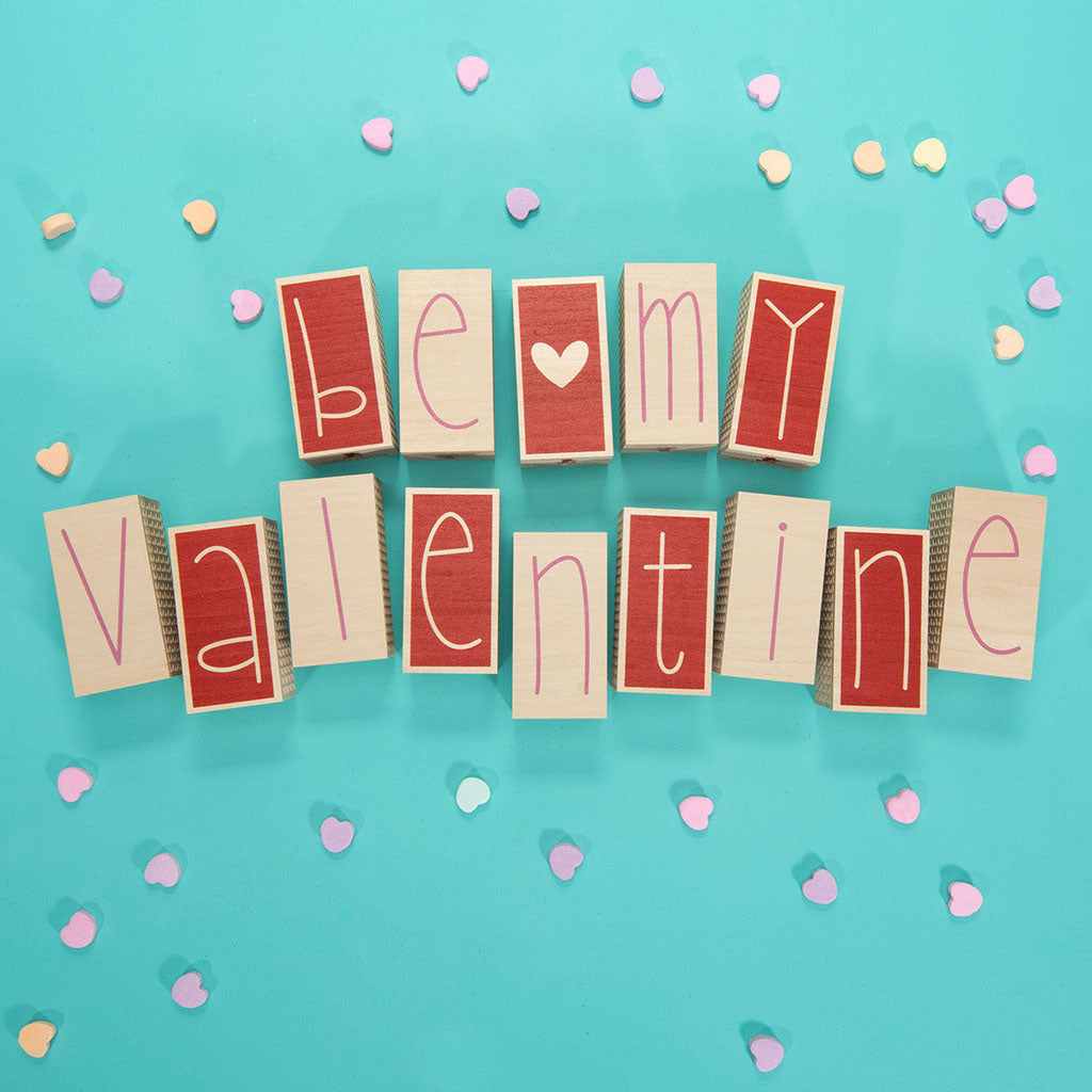 Uncle Goose Valentine Letter Blocks