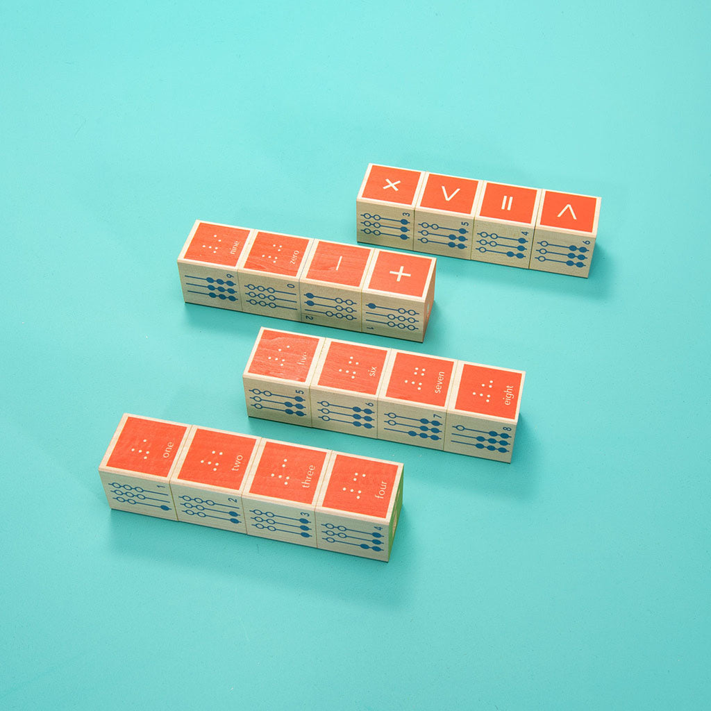 Uncle Goose Braille Math Blocks