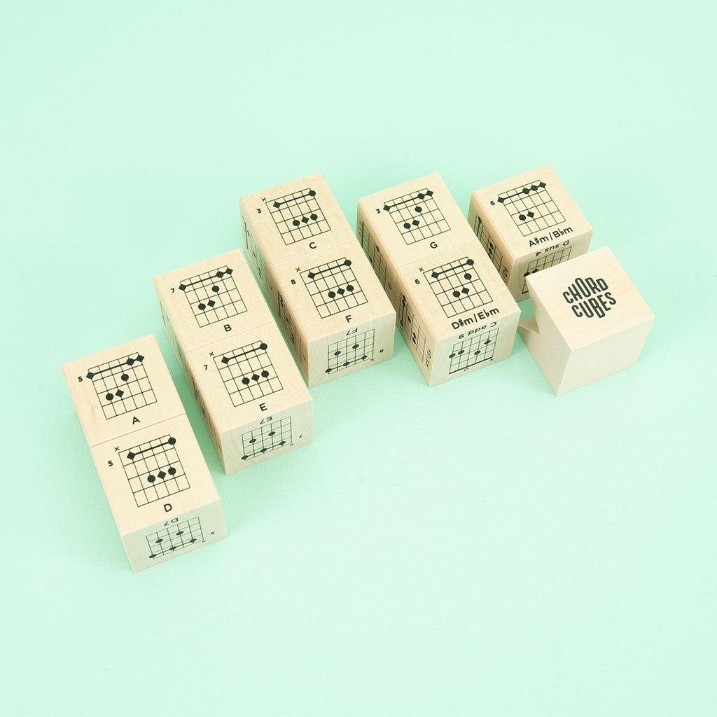 Uncle Goose Chord Cubes Guitar Blocks