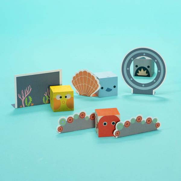 Sea Creatures blocks by Uncle Goose
