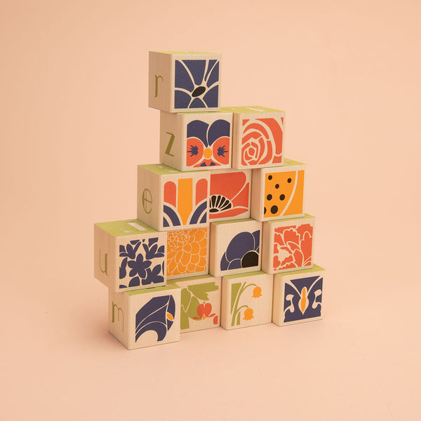 Flower Blocks toys by Uncle Goose