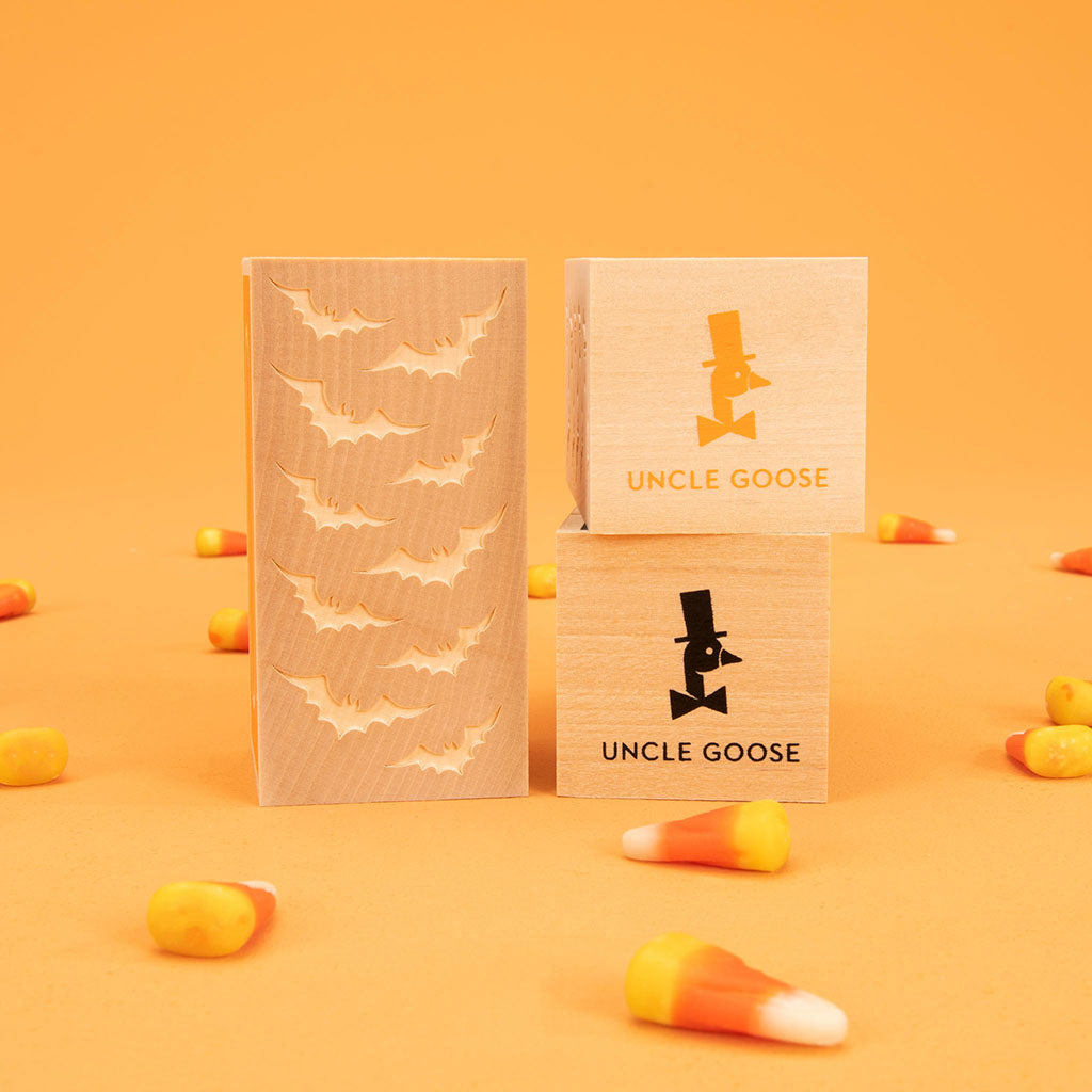 Uncle Goose Happy Halloween Letter Blocks