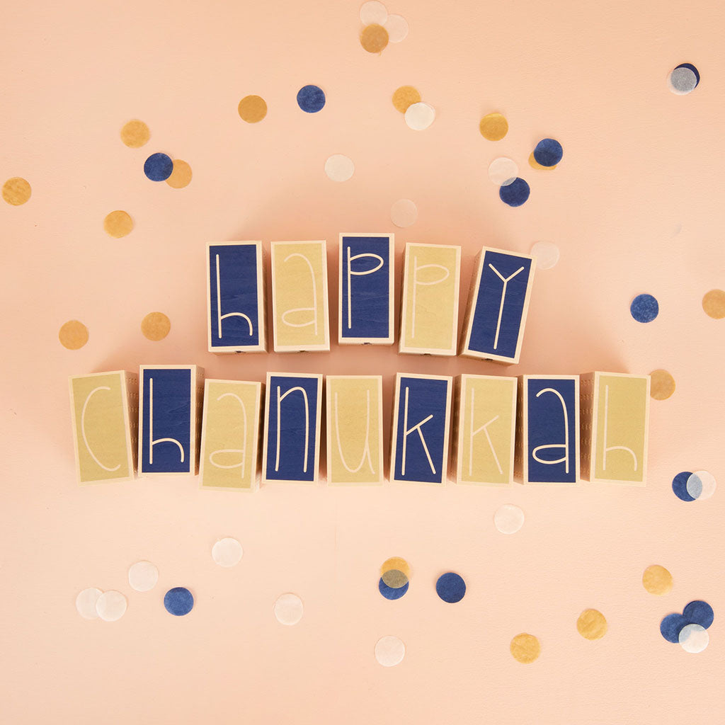 Uncle Goose Happy Hanukkah Letter Blocks