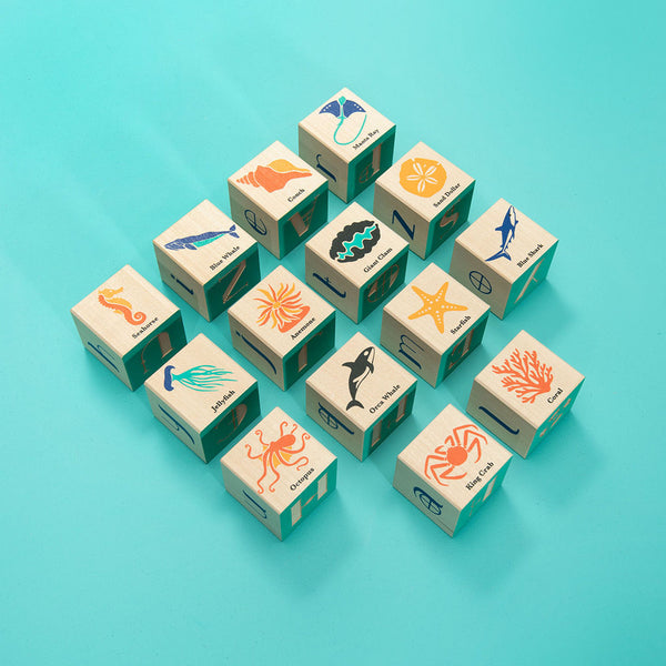 ocean block toys by Uncle Goose
