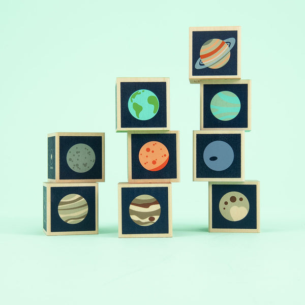 Planet Blocks featuring Planet Earth