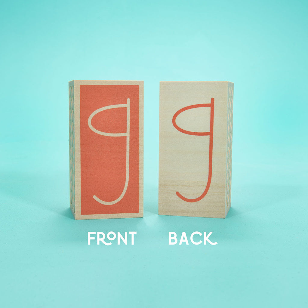 Uncle Goose Specialty Letter Blocks - Coral