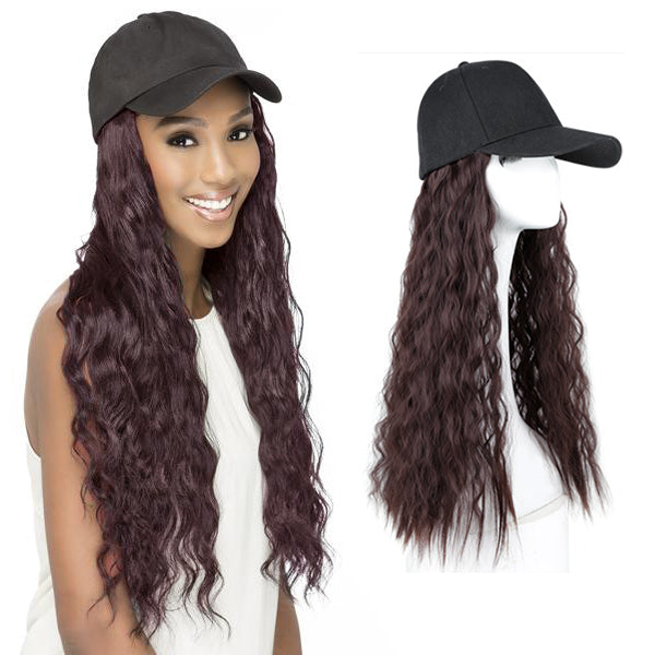 Copy of Long loose curly hair seamless lace front wig cap ladies heat-resistant synthetic hair caps