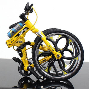 Zinc Alloy Mini Bicycle Toy - Finger Bike for Collections