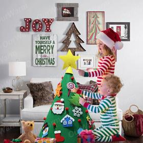 3D DIY feels Christmas tree for young children