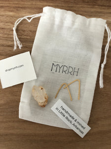 Moon + Myrrh - Hand Mined Crystal + Earring Set