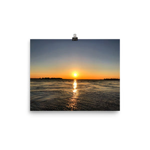Indian River Sunset Photo paper poster