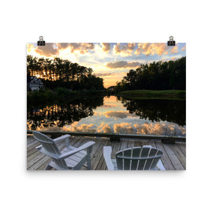 Reflections Photo paper poster