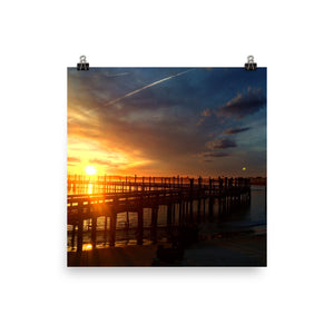 Inlet Sunset Photo paper poster