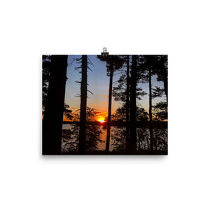 Loch Raven Sunset Photo paper poster