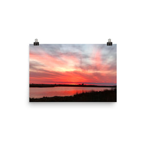 Pink Photo paper poster
